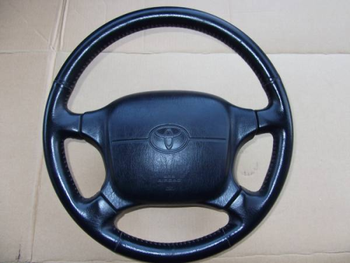 Steering wheel Leather / Lenkrad Leder BLK