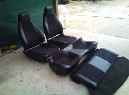 LEATHER SEATS / Leder Sitz Garnitur Mazda RX-7 SA2 FB SA22C S1 RX-7 Serie