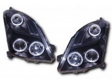 Black ANGEL EYE HEADLIGHTS