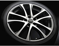"19 inch Aluminum Wheel ""TRD TF5""  	Shining Cut"