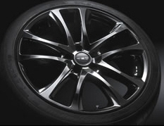 "19 inch Aluminum Wheel ""TRD TF5"" High Gloss Silver"